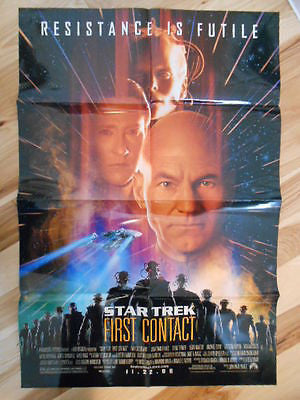 Star Trek First Contact rare 26x39 size movie poster