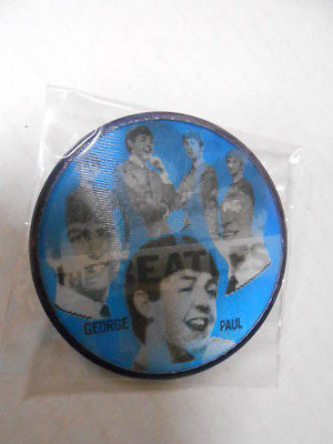 The Beatles rare original ( blue ) 3x3 flicker button 1960s