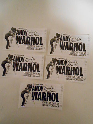 Andy Warhol exhibit advertising 5 sticker cards  from 2015