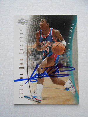 Isiah Thomas rare signed NBA card w/ COA