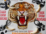 Tigers Teeth rare vending machine display card 1970s