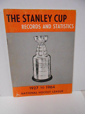 NHL hockey Stanley Cup Records /Stats rare book 1964