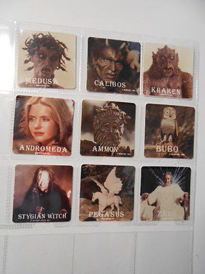 Clash of the Titans Movie 9 card set 1980s