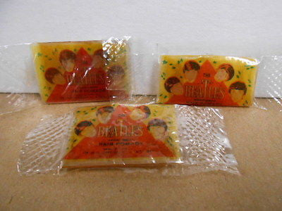 Beatles rock band rare  hair gel original 3 sealed packs 1964