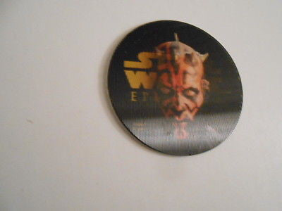 Star Wars Episode 1 rare Darth Maul limited issued lenticular disc from 1990s