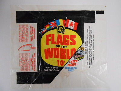 Flags of the World cards OPC Canadian wrapper 1970