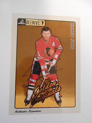 Stan Makita Score Pinnacle signed insert NHL hockey card
