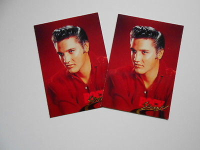 Elvis two cards limited issued release 1991