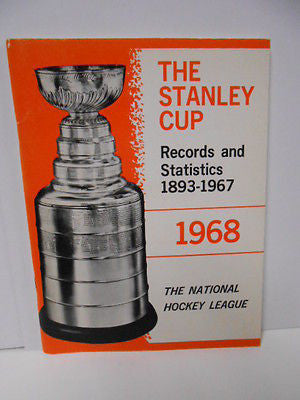 NHL hockey Stanley Cup Records /Stats rare book 1968