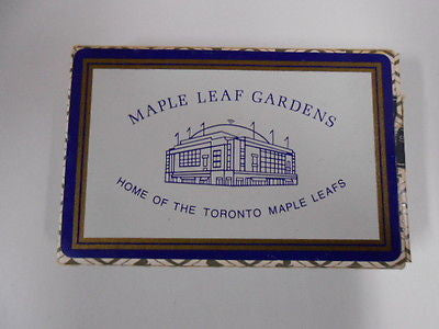 Toronto Maple Leafs hockey Gardens playing cards deck 1960s