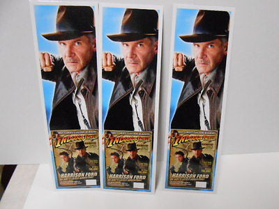 Indiana Jones Movie rare 3 bookmarks