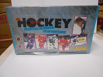 NHL hockey colour photocards full sealed box Panini 1998-99