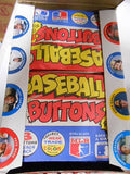 Baseball Buttons regional issued full box 1980s