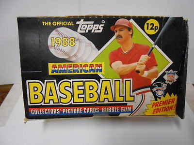 Baseball cards rare UK version box 1988