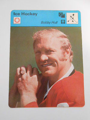 Bobby Hull rare 4x6 game card 1970s