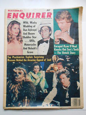 Star Wars issue National Enquirer rare vintage full newspaper 1983