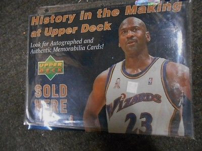 Michael Jordan Upper Deck window stick-on sign 1990s