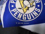 Pittsburg Peguins rare NHL Hockey pennant 1970