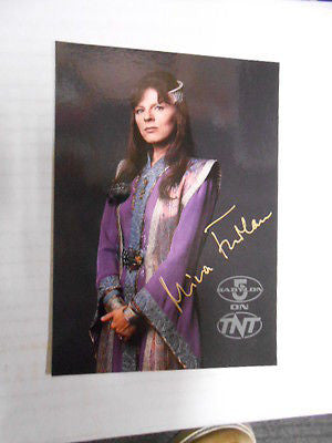 Babylon 5 TV show rare Mira Furlan signed in person 5x7 card  with COA1990s
