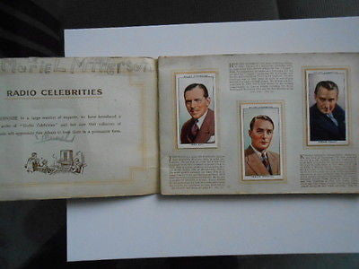 1950s tobacco cards Radio Celebrities complete set