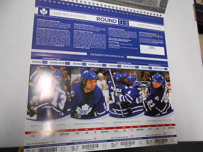 Toronto Maple Leafs quarter finals unused 4 playoff tickets round 3 game 2007