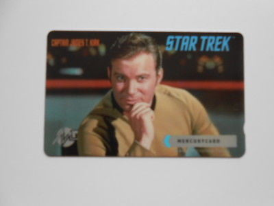 Star Trek Captain Kirk original series phonecard 1990s