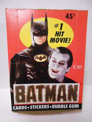 Batman Topps movie cards rare full box 1989