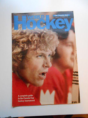 Team Canada Toronto Star Newspaper special insert 1976