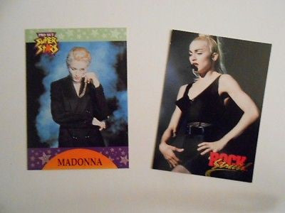 Madonna rare 2 limited issued preview vintage cards 1990s