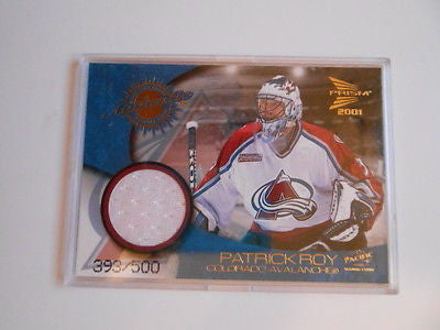 McDonalds hockey Patrick Roy numbered jersey insert card