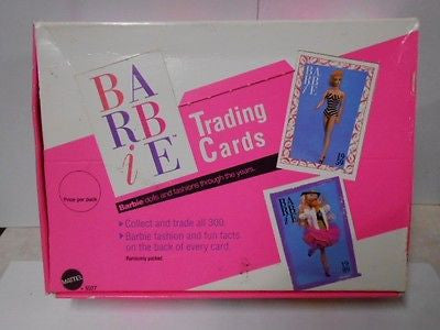 Barbie cards sealed packs full box 1990s.