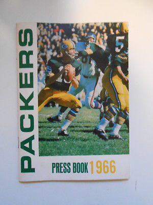 Green Bay Packers football press book 1966