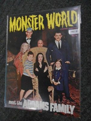 Addams Family Monster World rare magazine 1960s