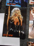 Pamela Anderson Barb Wire movie embossed insert card set 1990s