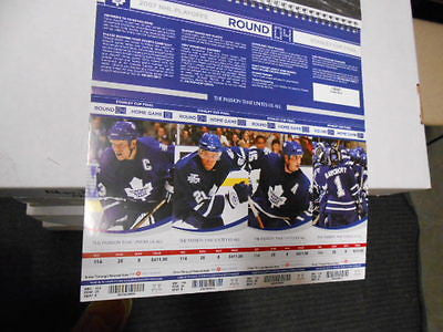 Toronto Maple Leafs quarter finals unused 4 playoff tickets round 4 game 2007