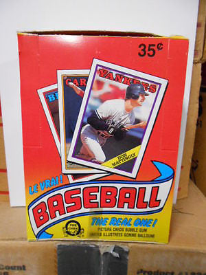 1988 OPC Baseball cards 48 sealed packs box