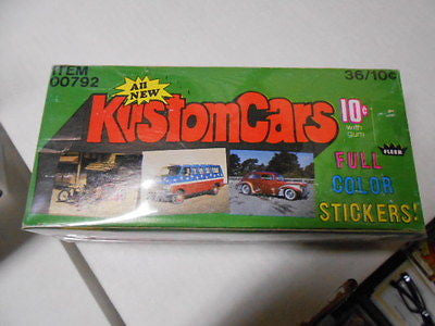 KustomCars cards rare empty display box 1970s
