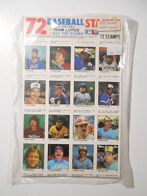 Fleer Baseball vintage complete limited issued Stamp sheet set 1983