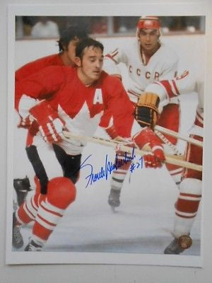 Team Canada Hockey Frank Mahovlich signed photo with COA
