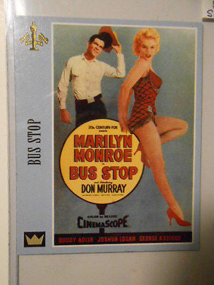 Movie Poster cards Bus Stop signed Don Murray insert card