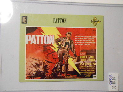 Movie Poster cards Patton signed Karl Malden insert card