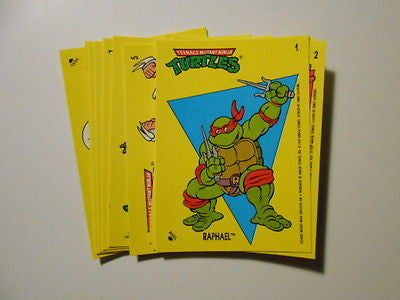 Teenage Mutant Ninja Turtles rare stickers set 1990s