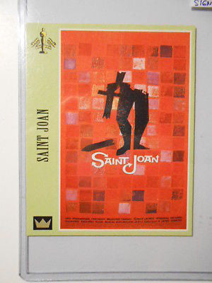 Movie Poster cards St. Joan signed Richard Todd insert card