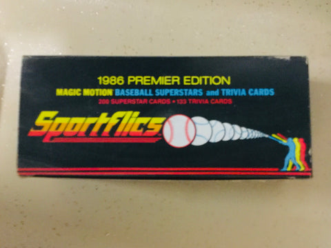 1986 Sportsflics Motion baseball superstars factory cards set