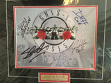Guns N Roses rare multi autograph photo w/COA