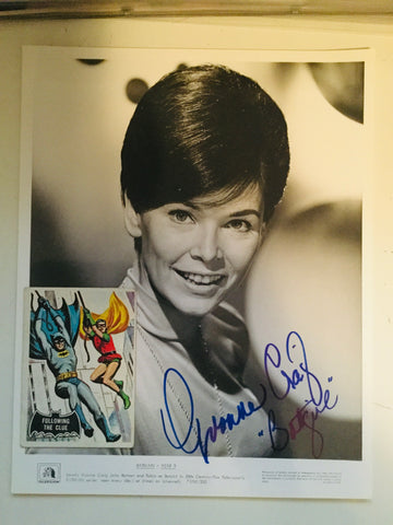 Batman TV show Batgirl Yvonne Craig signed photo with card and COA