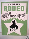 Western Rare Rodeo vintage program 1960s