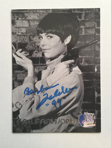 Get Smart TV show rare Barbara Feldon signed card with COA