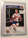 Gordie Howe Zellers signature series signed insert card