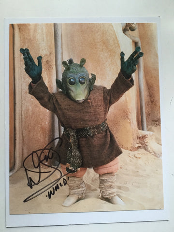 Star Wars Warwick Davis Signed Photo with COA